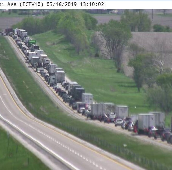 UPDATE: Collision on I-80 westbound near West Branch leads to detour, delays