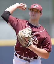 Smithville's Jared Johnson pitches against Stringer in the MHSAA State Baseball Championships on Thursday, May 16, 2019, at Trustmark Park in Pearl, Miss.