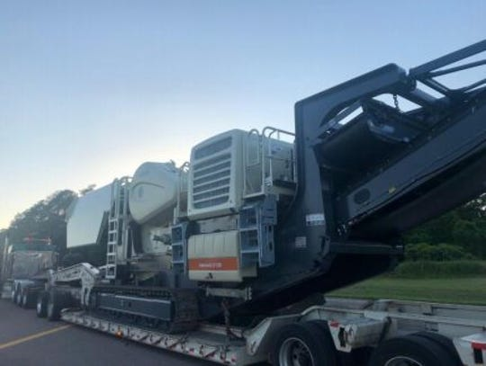 Madison County Sheriff's deputies recovered a stolen LoKotrack LT120 rock crusher worth more than $915,000 Tuesday evening during a traffic stop.