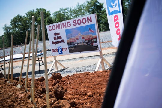 A new Food City store at 1715 W. Broadway in Maryville will open in late October or early November.