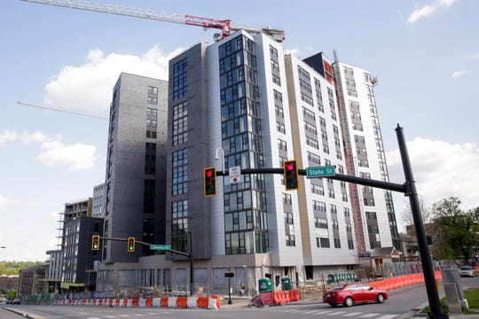 The Rise, at the corner of State st and Chauncey st, Wednesday, May 15, 2019, in West Lafayette. The Rise is part of the State Street Corridor Developments.