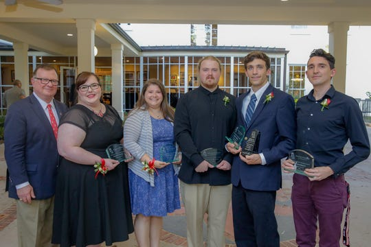 LeBlanc, second from right, is one of the Outstanding Masters' Graduates.