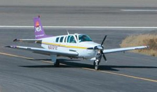A Beechcraft Bonanza, like this one pictured in New Mexico in 2008, went missing over Lake Michigan on Sunday, May 12, 2019.