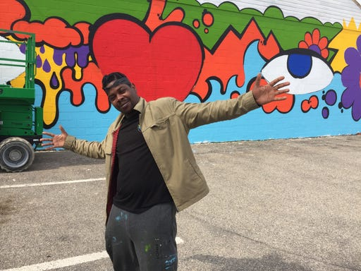 Splashes of color added to Howell by muralists, community members