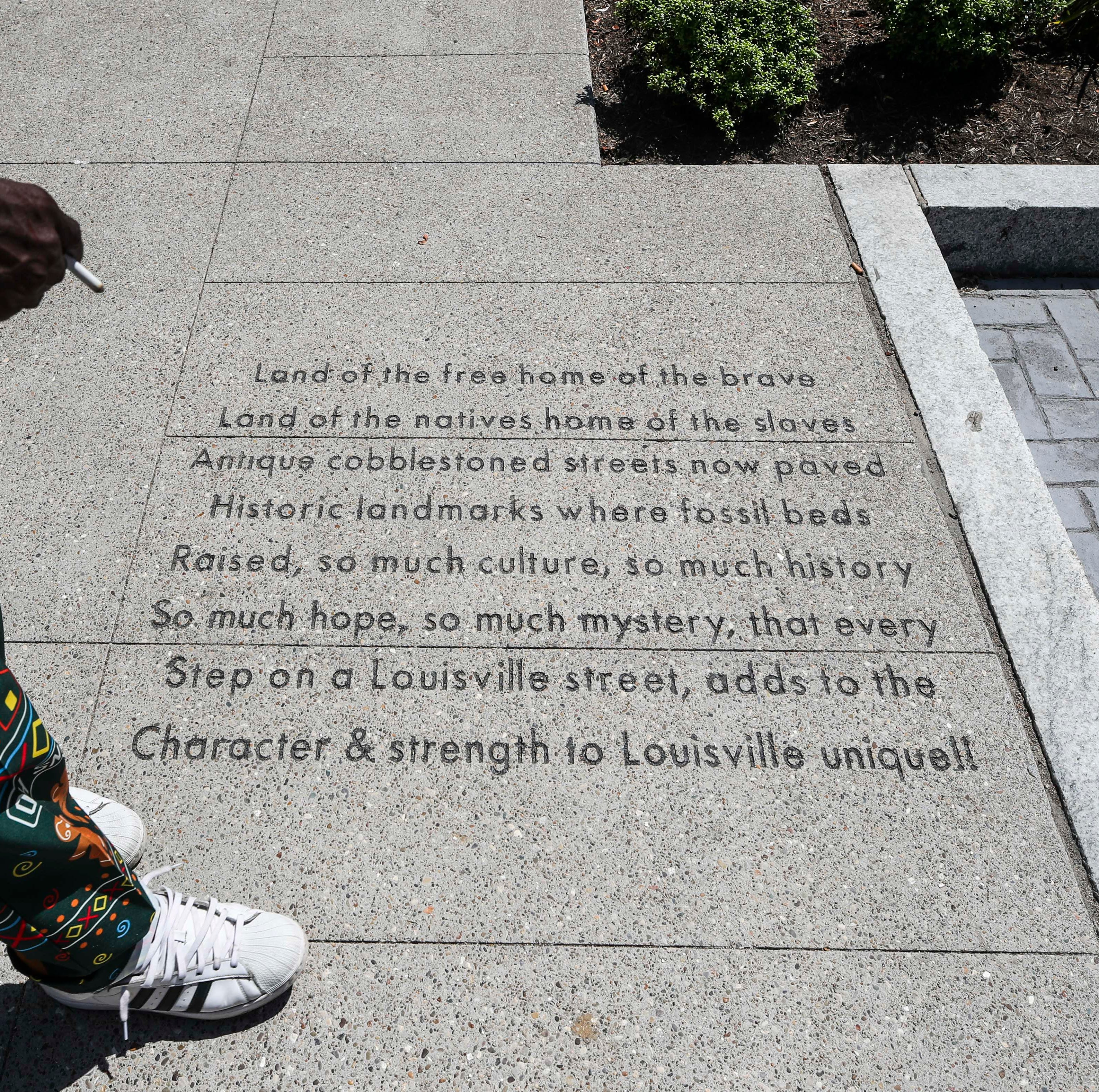 Local poets turn Fourth Street sidewalk into an homage to Louisville