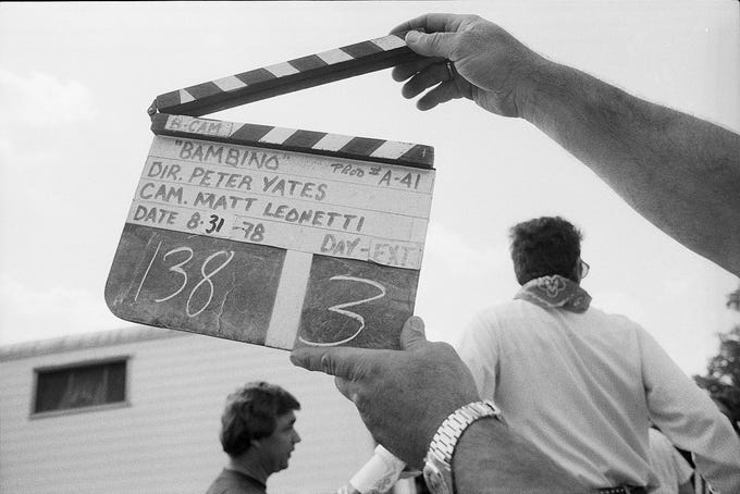 """A scene from the movie """"Breaking Away,"""" with a working title of """"Bambino"""" is started. Aug. 31, 1978."""