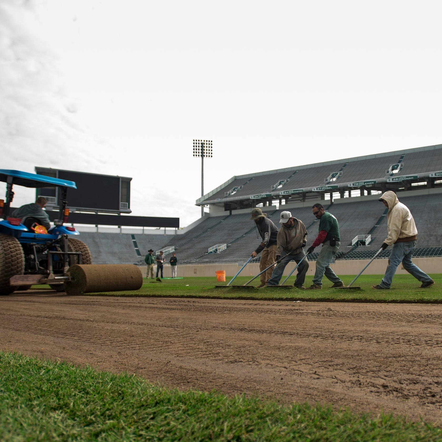 $1 million makeover: An inside look at Spartan Stadium's Kentucky bluegrass resodding
