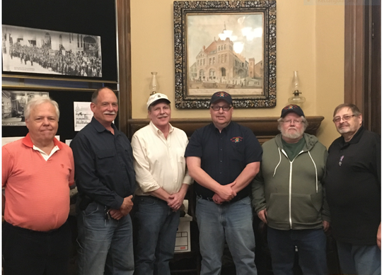 Members of the McLaughlin Camp 12, Sons of Union Veterans Civil War meet the third Wednesday at 7 p.m. at the Mansfield Memorial Museum. Left to right, Tim Fensch, Mike Snyder, Brad Tilton, Rich Eichinger, Kent Dorr and Randy K. Snyder.