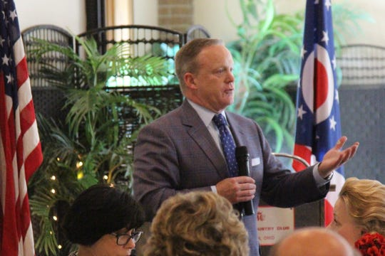 Sean Spicer, the former press secretary for President Donald Trump, addressed a room of Marion County Republicans on Thursday as the party gears up for the 2020 Presidential Election.