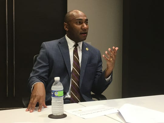 May 15, 2019 - Shelby County Mayor Lee Harris speaks with The Commercial Appeal's editorial board.
