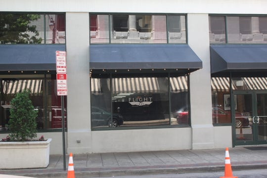 The valet service area outside Flight Restaurant and Wine Bar at 39 N. Main St. on Thursday, May 16, 2019.