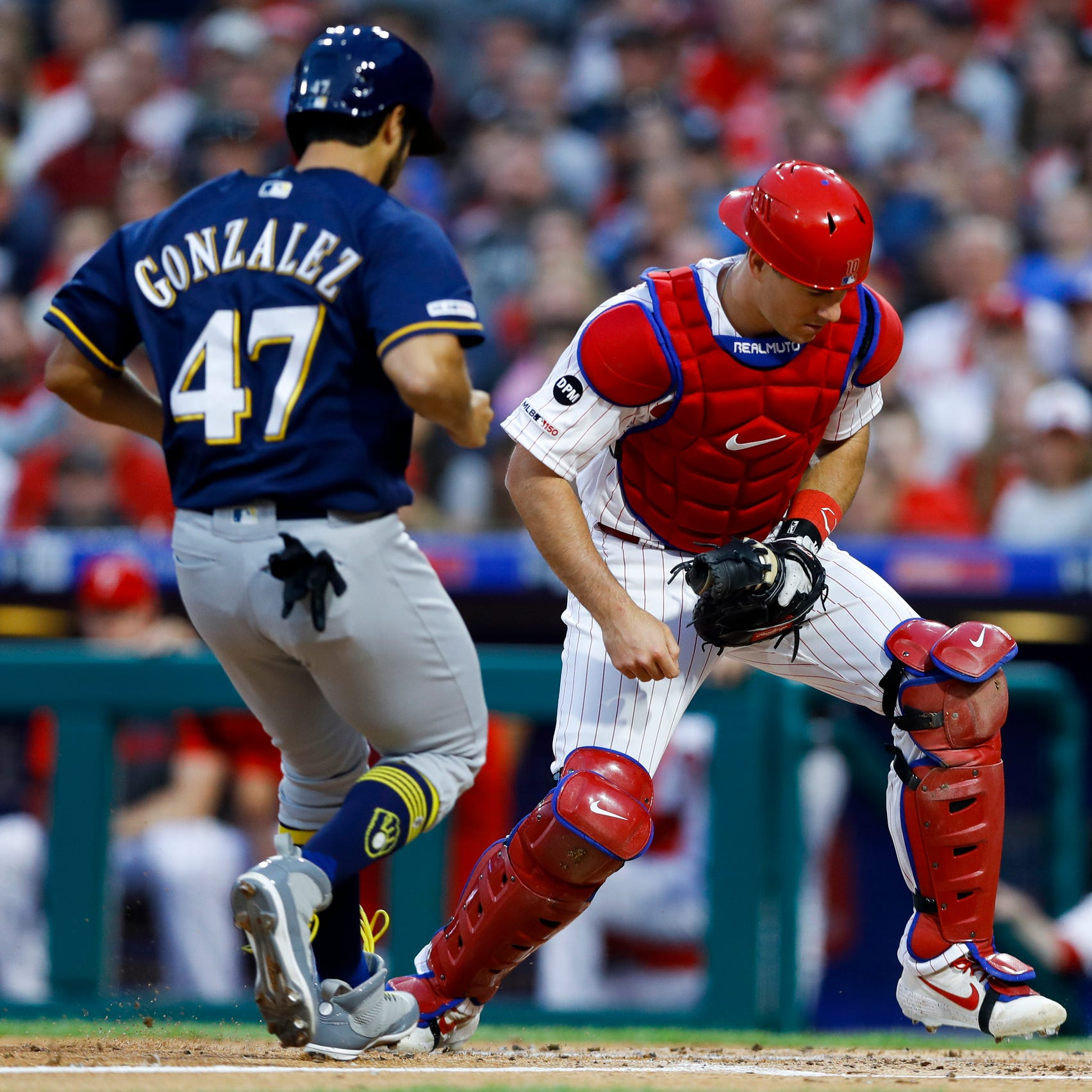 Things are going so well for Gio Gonzalez, even his base-running mistake worked for Brewers