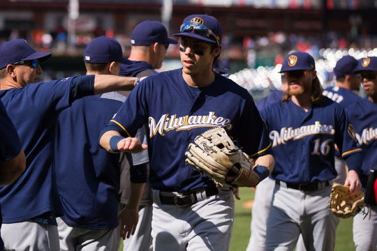Christian Yelich is batting .325 with 41 RBI, a .732 slugging percentage and 1.172 OPS.