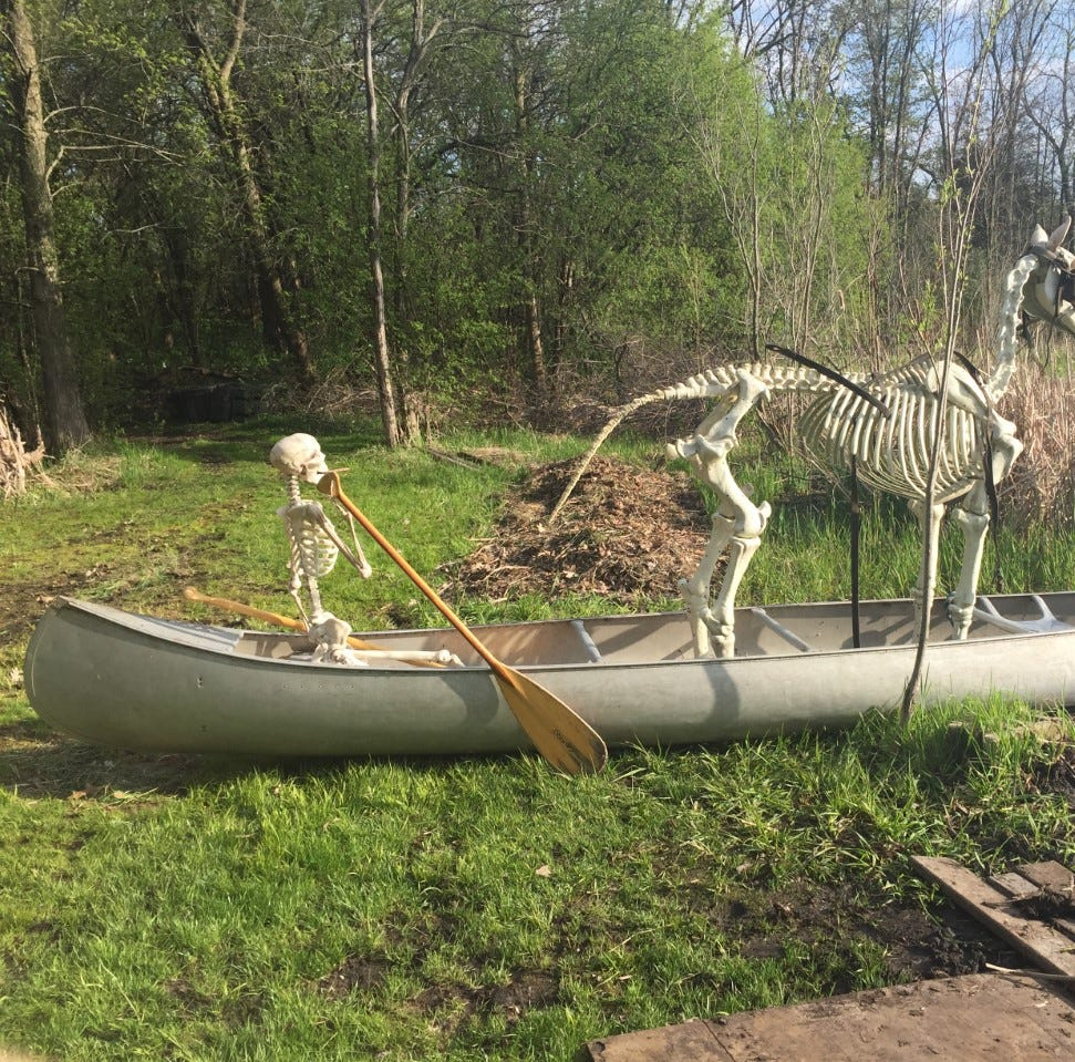 If you've seen a skeleton horse around the village of Summit, here's why