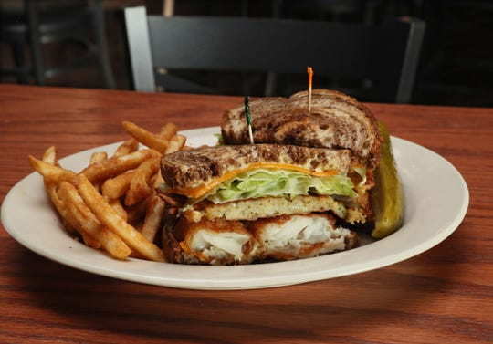Natty Oaks Pub & Eatery in West Allis serves a Fridays-only cod-and-potato-pancake sandwich called the Big Kahuna.