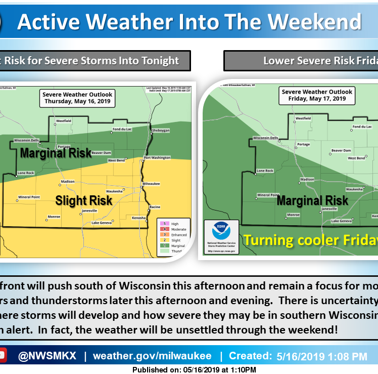 Severe storms possible Thursday, heavy rain and flooding possible for weekend
