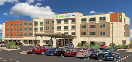 A rendering of the proposed Holiday Inn at 10201 W. Lincoln Ave. in West Allis. Plans call for the demolition of a four-story office building to make way for the hotel.