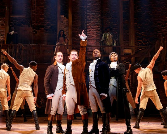"The Chicago production of ""Hamilton"" will end Jan. 5, 2020, after more than three years of performances there."