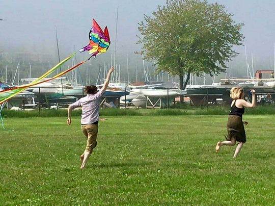 The windy weather of springtime makes kite-flying a good option.
