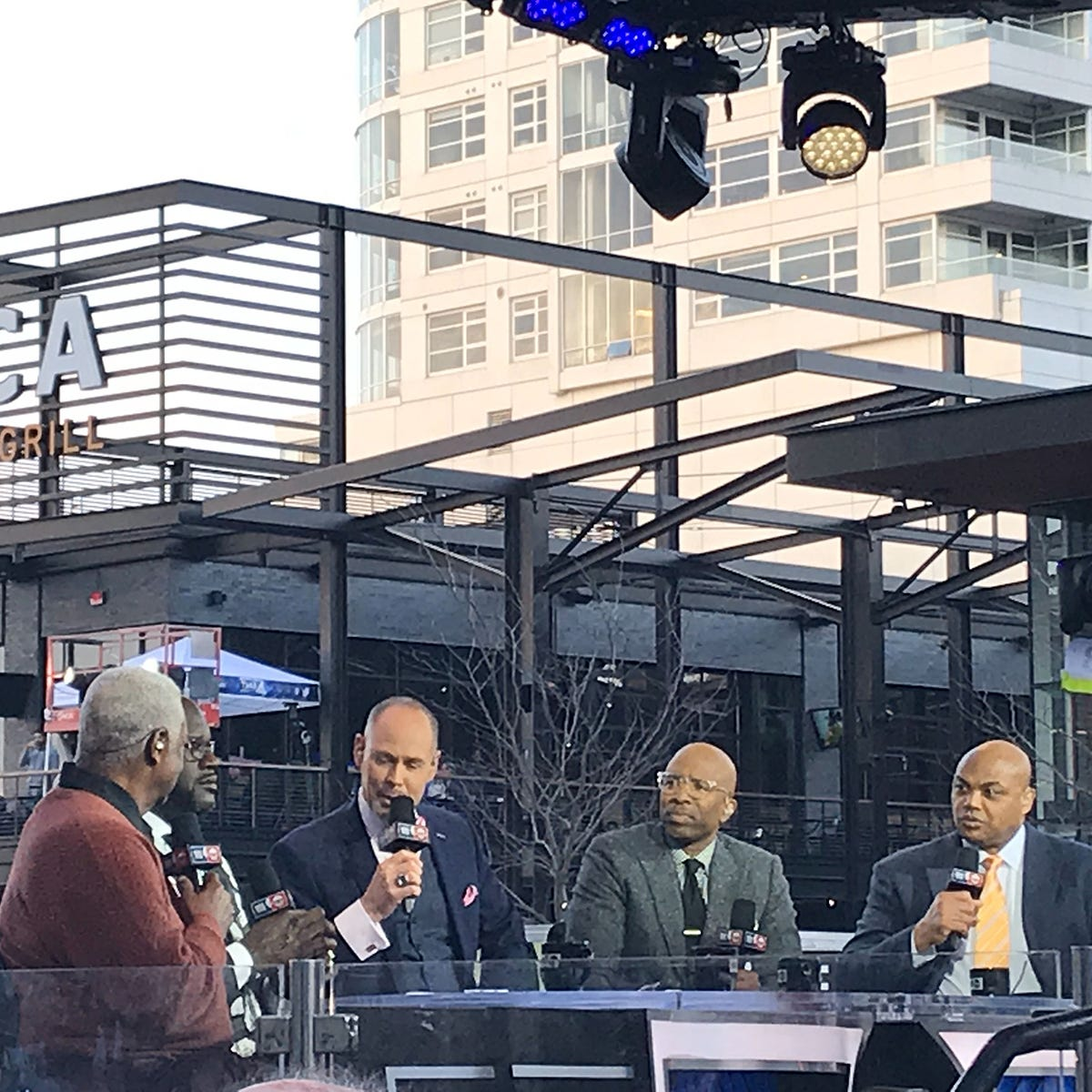 TNT's 'Inside the NBA' draws raucous crowd on Fiserv Forum plaza before the Bucks playoff battle with Toronto