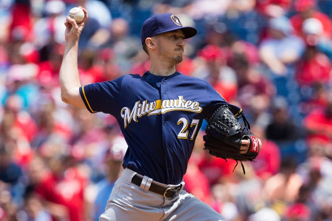 Brewers starting pitcher Zach Davies gave up just four hits and one earned run over  six innings.