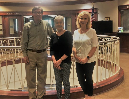 Suzanne Schmoker Sutherland, a former instructor of Developmental Studies at Arkansas State University-Mountain Home, has established an endowed scholarship. Pictured are: (from left) Robin Myers, Chancellor of ASUMH; Sutherland;and Mollie Morgan, Development Officer.