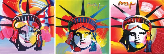 Famed artist Peter Max has once again painted the Statue of Liberty. This one for the new Statue of Liberty Museum opening May 16 on Liberty Island. The fauvist colors he used in these paintings were inspired by the fireworks reflecting off of Lady Liberty's face at her 100th Anniversary celebration and restoration-unveiling on July 4th weekend in 1986.