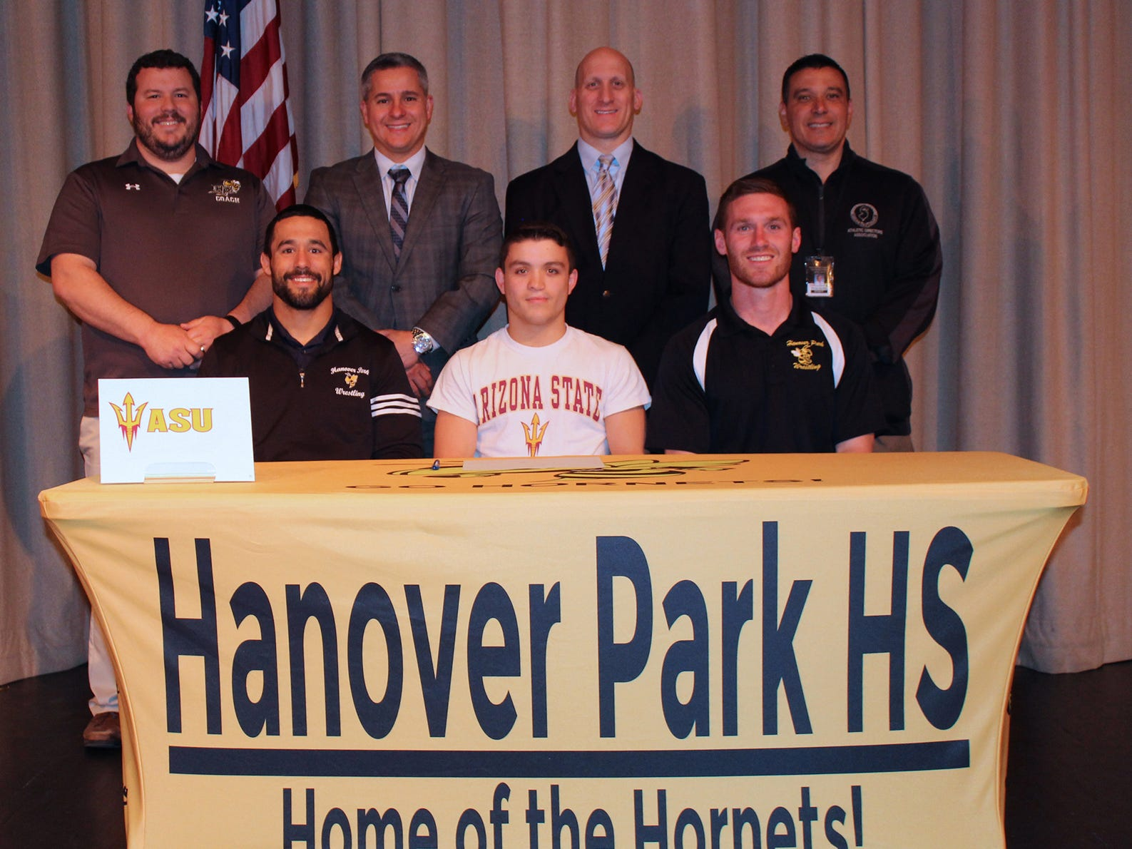 Hanover Park senior Nick Raimo signed a National Letter of Intent with Arizona State wrestling.