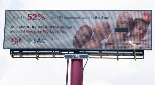 A digital billboard promoting the work of CAARAC, the Central Alabama Alliance, Resource and Advocacy Center, is seen in Wetumpka, Ala. on Thursday May 16, 2019.