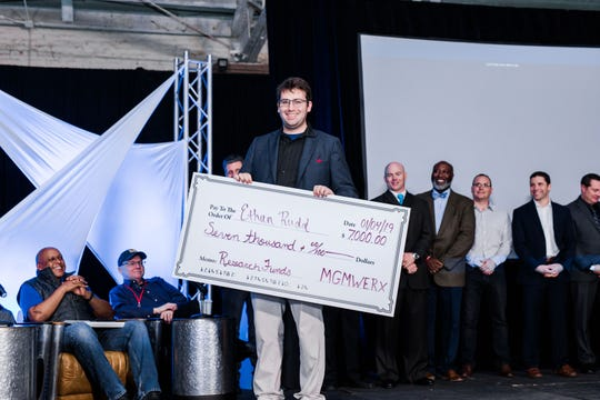 At the January MGMWERX pitch night, Ethan Rudd landed $7,000 for a project that uses artificial intelligence to help in low visibility conditions.