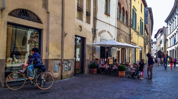 The streets of Lucca.