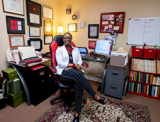 Shakita Brooks Jones, the Executive Director of CAARAC, the Central Alabama Alliance, Resource and Advocacy Center, is shown in CAARAC's office located in Wetumpka , Ala. on Thursday May 16, 2019.