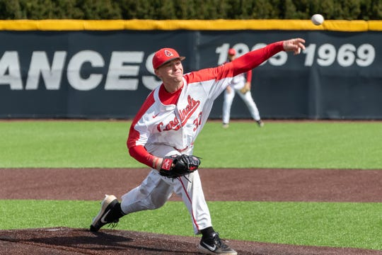 Ball State's Lukas Jaksich during a game in the 2019 season.