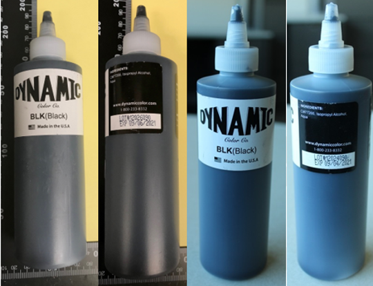 On May 15, 2019, the FDA has recalled Dynamic Color - Black Tattoo Ink (manufactured by Dynamic Color Inc) because it has been contaminated with microorganisms.