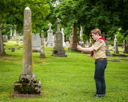 Mt. Juliet High student Ty Smith plans to geo-tag grave sites this weekend as an Eagle Scout project to help people locate information on ancestors.