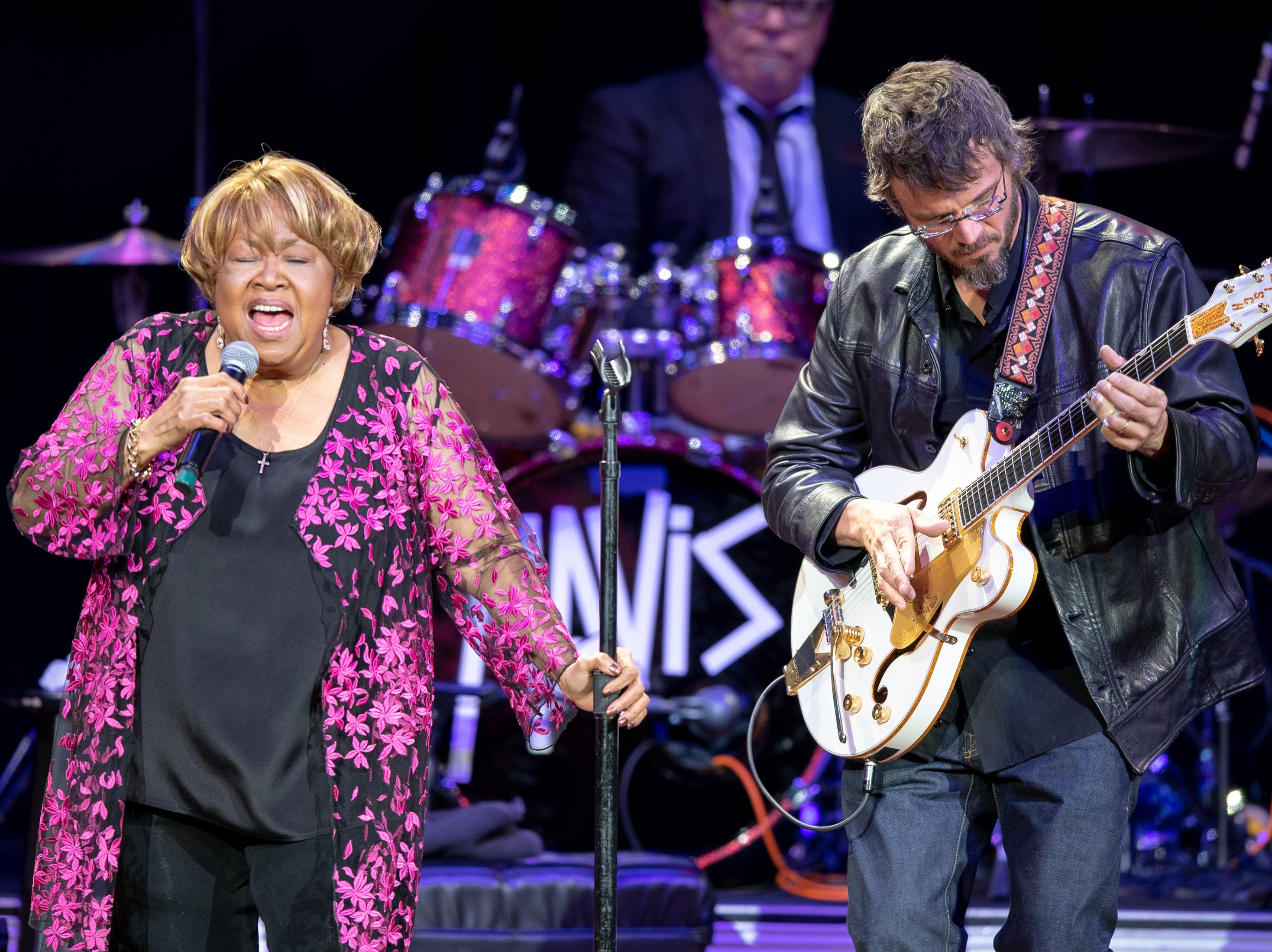 Mavis Staples performs with Luther Dickinson during the Mavis and Friends concert at the Ryman Auditorium in Nashville, Tenn., Wednesday, May 15, 2019.