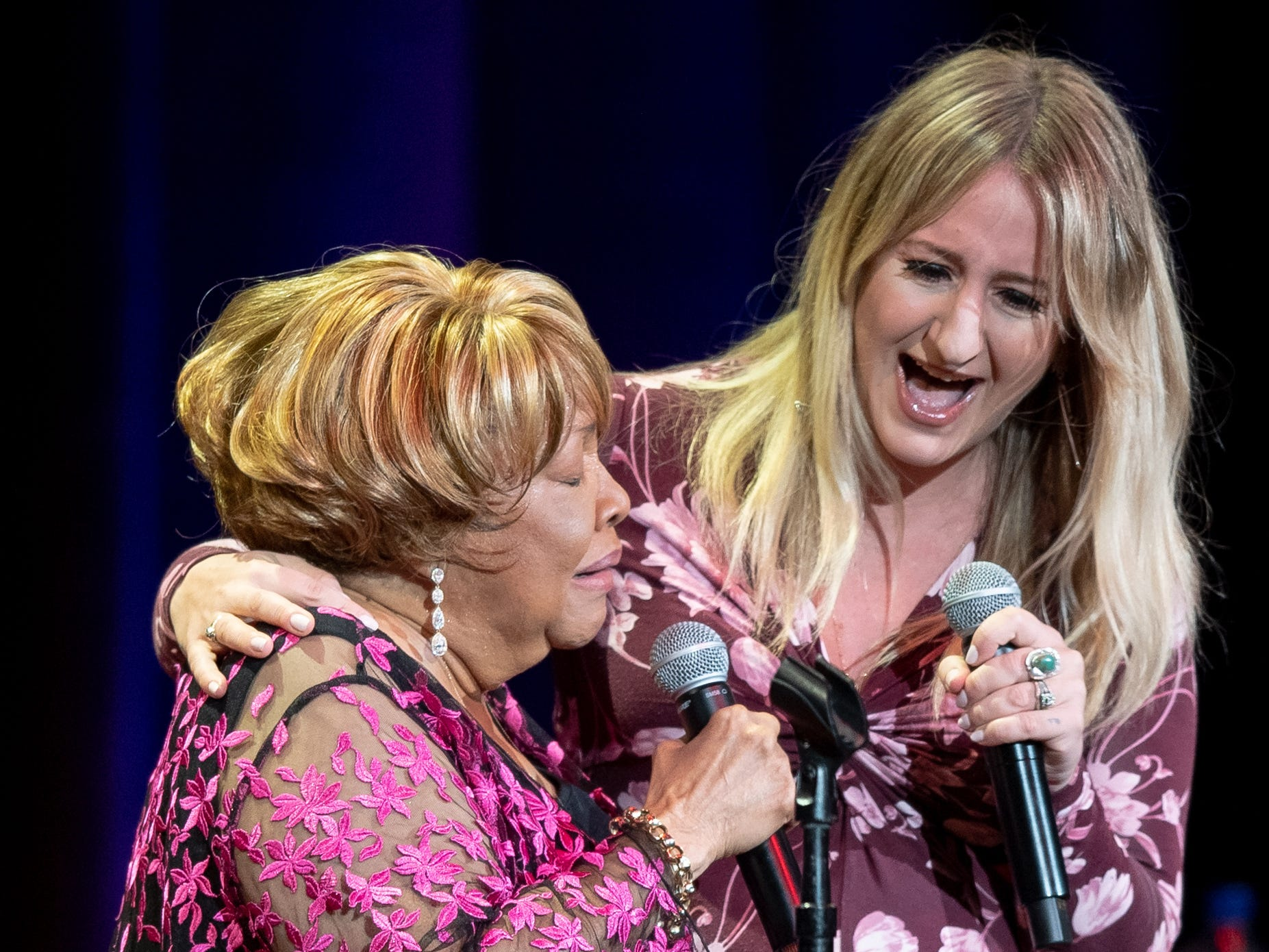 Mavis Staples performs with Margo Price during the Mavis and Friends concert at the Ryman Auditorium in Nashville, Tenn., Wednesday, May 15, 2019.
