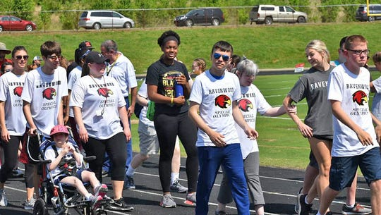 Ravenwood High was one of many schools participating in the 2019 Special Olympics in Fairview on May 2, 2019.