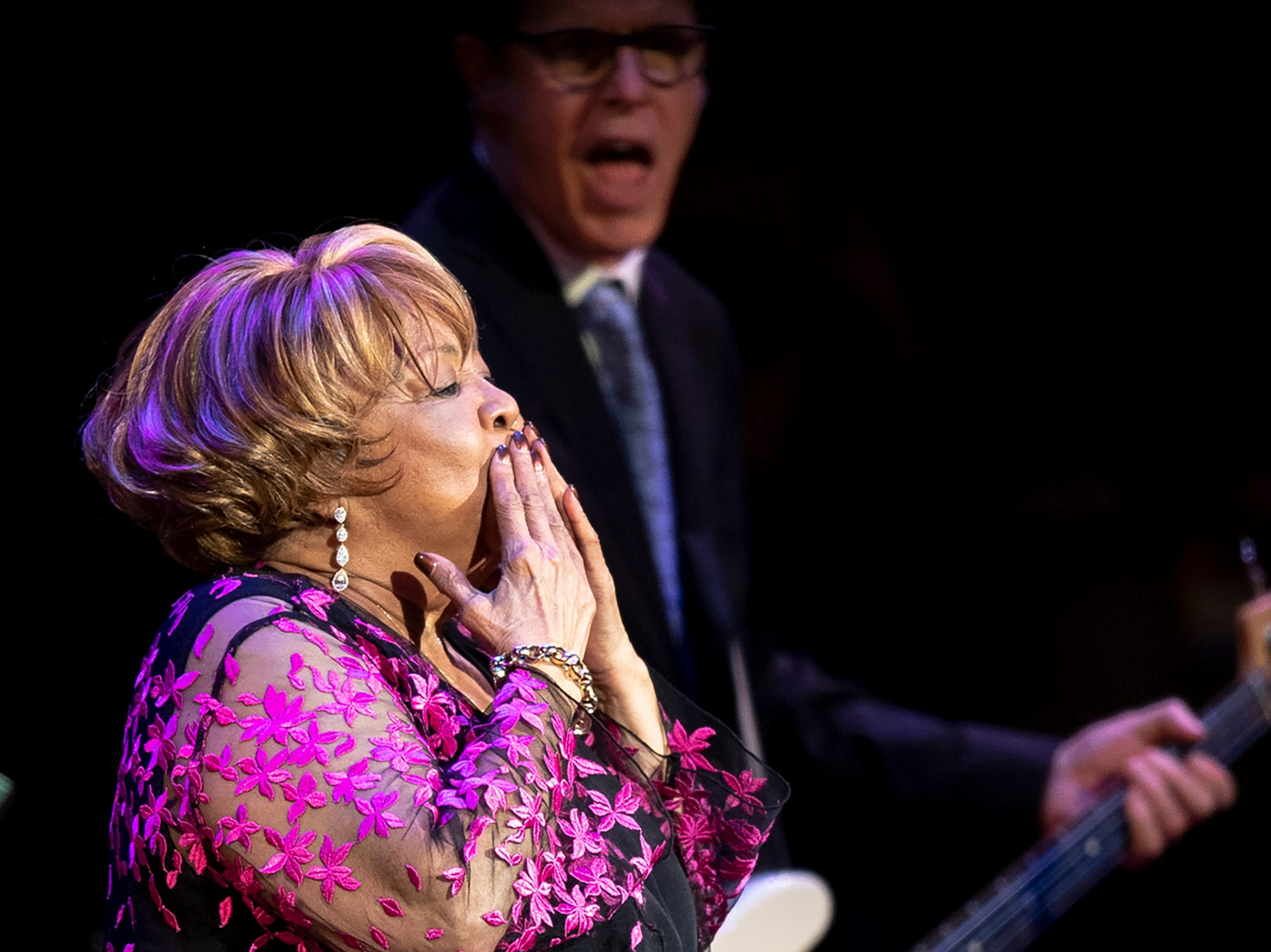 Mavis Staples performs during the Mavis and Friends concert at the Ryman Auditorium in Nashville, Tenn., Wednesday, May 15, 2019.