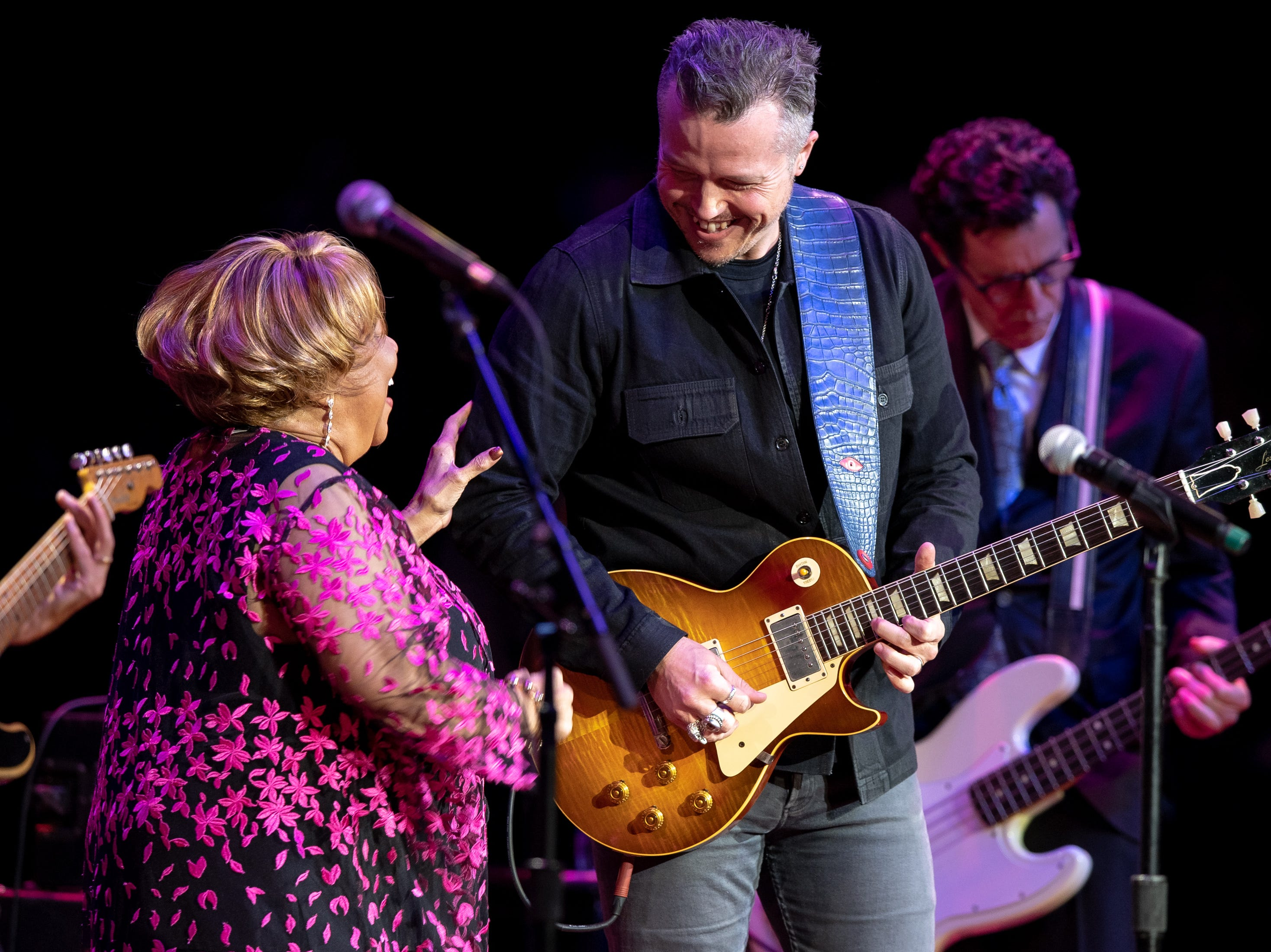 Mavis Staples performs with Jason Isbell during the Mavis and Friends concert at the Ryman Auditorium in Nashville, Tenn., Wednesday, May 15, 2019.