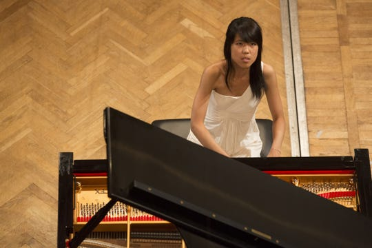 Kate Liu in the International Chopin Competition, where she won the bronze medal
