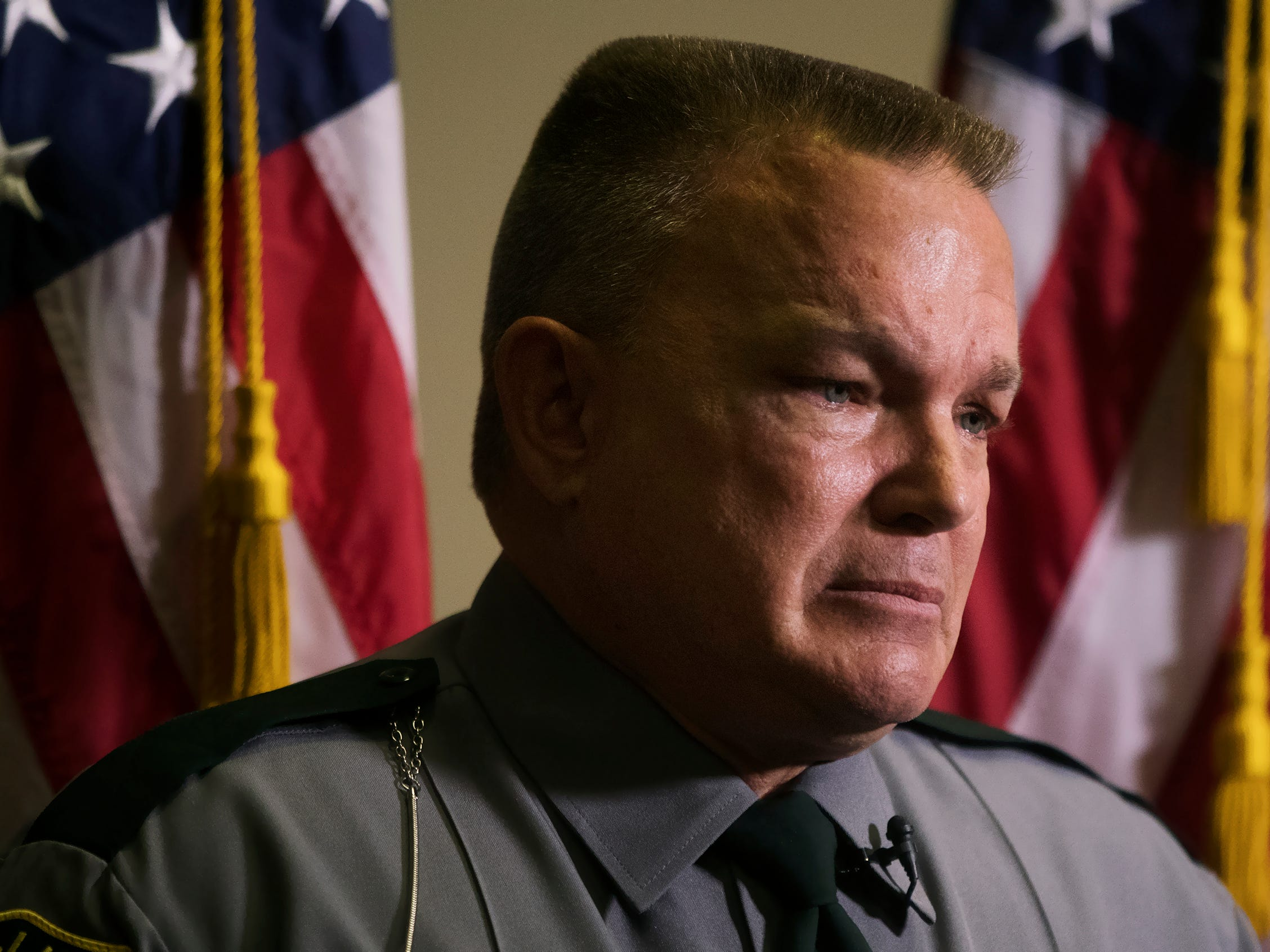 Corporal William Pschigoda, of the Collier County Sheriff's Office, was among those honoring local law enforcement officers killed in the line of duty at a memorial on Wednesday at the East Naples United Methodist Church. Thirteen officers have been killed in Collier County since 1928.