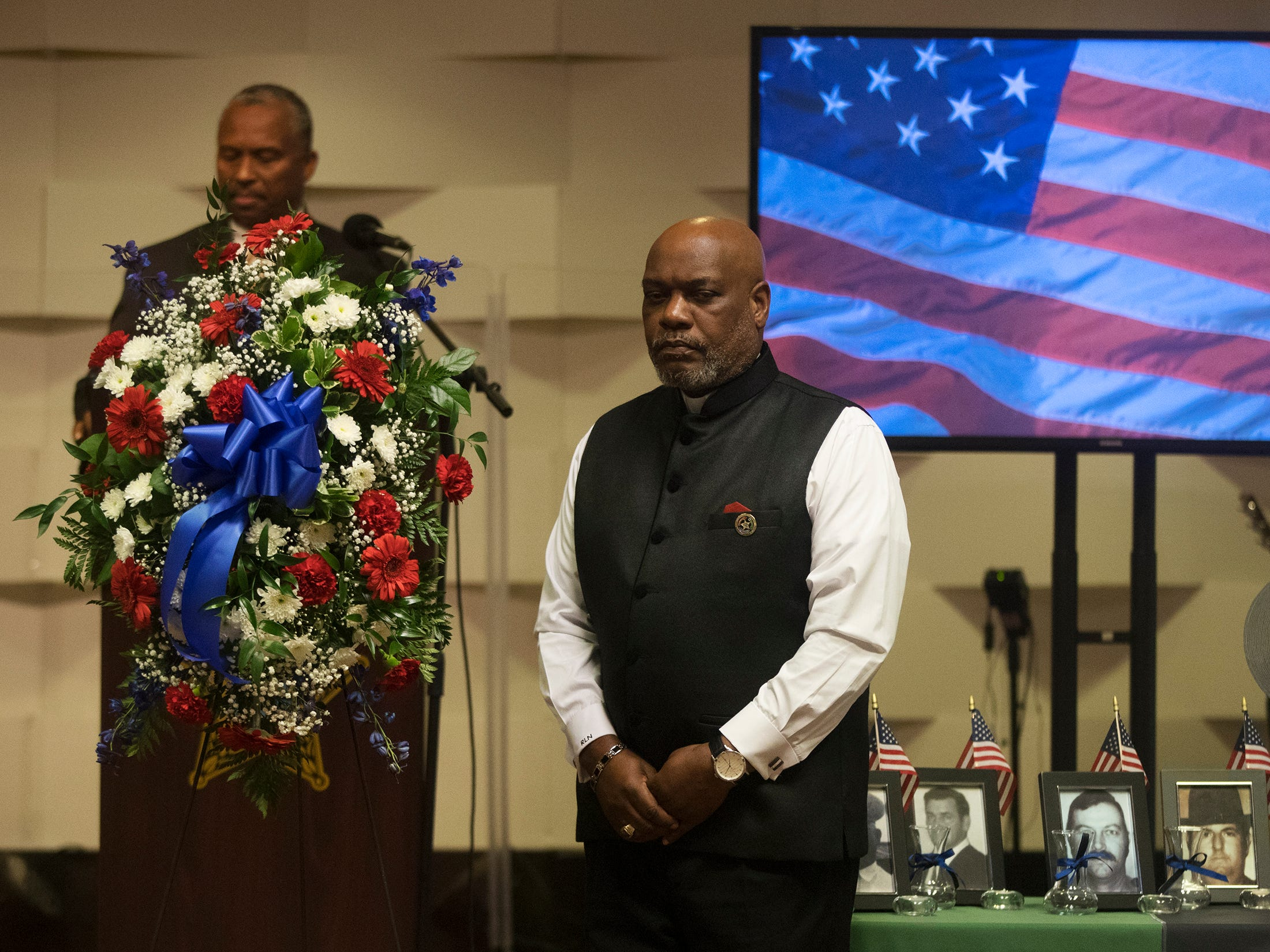 Members of the Collier County NAACP were among those honoring local law enforcement officers killed in the line of duty at a memorial on Wednesday at East Naples United Methodist Church. Thirteen officers have been killed in Collier County since 1928.