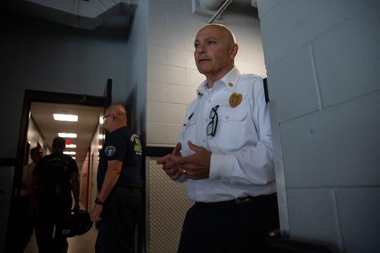 Naples Fire Chief Pete DiMaria provides a tour of the department's new Naples Fire Department Station No. 1, Thursday, May 16, 2019.