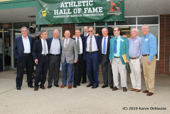 Members of the famous 1969 St. Joe's track and field team.