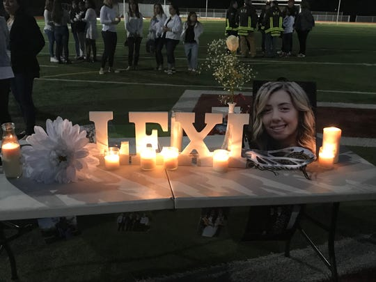 "Hundreds gather to honor Newton High School junior Alexis ""Lexi"" Faye, who was killed in a crash Saturday."