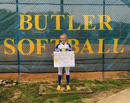 Butler senior Melissa Konopinski became the school's all time hits leader last week when she recorded her 148th career hit, breaking the three-year old school record of 147 hits held by former standout Aleks Apkarian set in 2016.