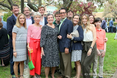 """Judy Corker, front and center, The """"Voice of the Green Knights"""""""