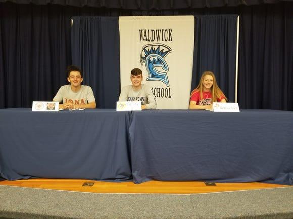 Waldwick Signing Day - Christopher Borgese - Iona College; Garrett Mironenko - Drew University; Kelly Moran - Rensselaer Polytechnic Institute.