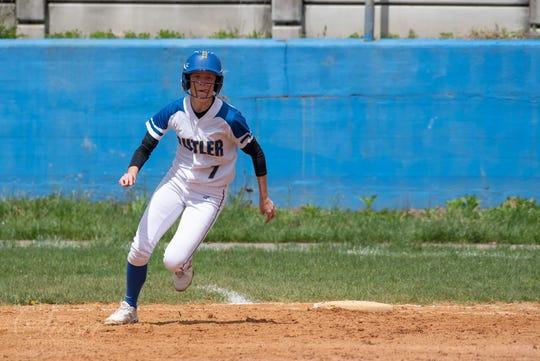 Butler senior softball standout Melissa Konopinski recorded her 150th career hit last week. Konopinski is the school
